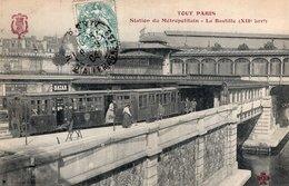 S2686 Cpa Tout Paris - Station Du Métropolitain - La Bastille - District 12