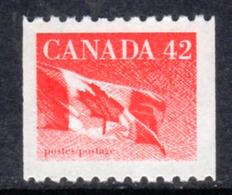 Canada 1989-2005 Flag Definitives 42c Coil Value, MNH, SG 1362 - 1952-.... Reign Of Elizabeth II