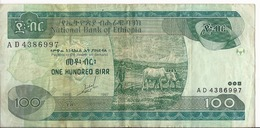 Etiopia - 100 Birr 1989 - P.50a - Etiopía