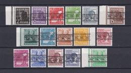 Bizone - 1948 - Michel Nr. 36/51 I Ohne Nr. 49 - 32 Euro - Bizone