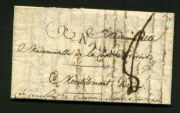 LETTRE  DE  NANCY  ANNEE 1813  A  DESTINATION DE   MONTELIMART - Marcophilie (Lettres)