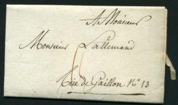 LETTRE  DU  6  JUIN  1822  A  DESTINATION DE   GAILLON - Marcophilie (Lettres)