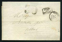 LETTRE  DE CAHORS  DU  3 OCTOBRE   1860  A  DESTINATION  DE  ALBAS - 1849-1876: Période Classique