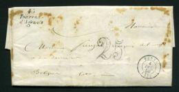 LETTRE  DE TOURNON-D'AGENAIS  DU  4  DECEMBRE  1850  A  DESTINATION  DE  PENNE - Marcophilie (Lettres)
