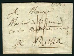 LETTRE  DU  9  OCTOBRE  1819  A  DESTINATION  DE  BASTIA - 1801-1848: Precursori XIX