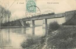 CREIL PONT DE LAVERSINEPASSAGE DU TRAIN - Creil