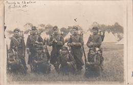 ***  PHOTO CARTE  MILITARIA  Camp De Chalons Campement Et Soldats - Timbrée TB - Manoeuvres