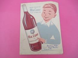 Protège-Cahier/VIN / Ma Cave/ Quand Maman Dit Ma Cave Elle A Tout Dit/ Cahier De Calcul/ MEYRAT /EFGE/Vers 1950  CAH211 - Papel Secante