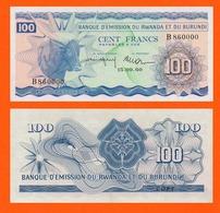 RWANDA BURUNDI 100 FRANCS 1960 - Rwanda