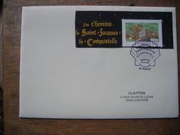 2012 FDC Les Chemins De Saint-Jacques De Compostelle Via Lemovicensis, Vézelay Avec Carte De Voeux - 2010-....