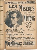 PARTITION - MONTEHUS, Les Misères - Partitions Musicales Anciennes
