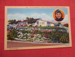 Home Of Jane Withers  Westwood  Ca.     Ref   3596 - Entertainment