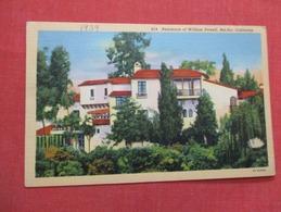 Home  Of William Powell  Bel Air    Ca.     Ref   3596 - Entertainment