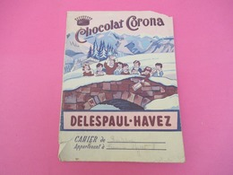 Protège-Cahier/Chocolat/ DELESPAUL-HAVEZ/MARCQ En BAROEUL/Nord/Cahier De Récitation  / Francine MEYRAT/Vers 1950  CAH213 - Kakao & Schokolade