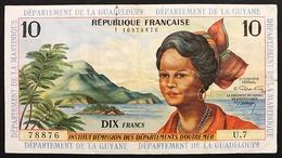 Antilles Françaises Guadeloupe Guyane Martinique 10 Francs Pick#8 Lotto 2745 - Guyana Francese