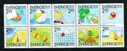 Suecia Nº 1524/33 (unidos) Nuevo Cat.22,50€ - Suecia