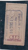 T.F. Effets De Commerce N°322 - Fiscaux