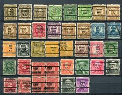 USA Vorausentwertungen Kleine Sammlung / Lot       O  Used            (6416) - Precancels