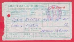 247990 / 1994 -  BUS , Passenger Coupon , GROUP - LTD , Ticket Billet , Prague Czech Republic - Sofia Bulgaria Bulgarie - Europa