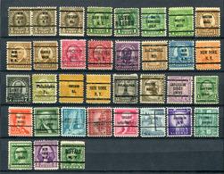 USA Vorausentwertungen Kleine Sammlung / Lot       O  Used            (6417) - Precancels