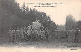 """52 - N°150564 - Bourbonne-les-bains- Capture Du Zeppelin """"l-49"""" - La Nacelle Arrière Du Dirigeable - 1917 - Bourbonne Les Bains"""