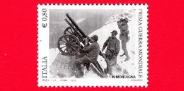 Nuovo - MNH - ITALIA - 2015 - Centenario Della Prima Guerra Mondiale - In Montagna - Artiglieria - 0,80 - 6. 1946-.. Repubblica