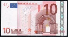 VERY RARE 10 EURO ITALIA S J008 TRICHET  UNC - EURO