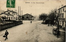 CPA BONSON - La Gare - Route De St-JUST (430364) - Altri Comuni