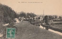 B18- 50) SAINT LO - VUE PRISE DES BORDS DE LA VIRE - Saint Lo