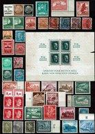 Kleines Lot Mit Block-Block Kleine Mängel - Used Stamps