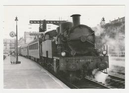 CPM VOIR DOS Train 75 Paris Gare Du Nord Locomotive Vapeur 050 TQ 11 Le 18/04/1964 Photo BAZIN - Transporte Público