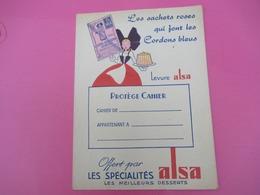 Protège-Cahier/Sucrerie Gateaux/ ALSA/ Levure Chimique/ Les Sachets Roses Qui Font Les Cordons Bleus/Vers 1950  CAH216 - Cake & Candy