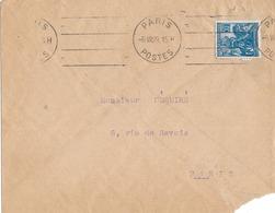 Type Jeanne D'Arc N° 257 Oblitérée Paris Poste - Lettres & Documents