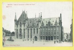 * Brugge - Bruges (West Vlaanderen) * (Editeur Albert Sugg, Série 11, Nr 8) Palais Gouverneur, Hotel Des Postes, Animée - Brugge