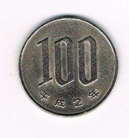 //  JAPAN  100 YEN 1990 ( 2 ) - Japon