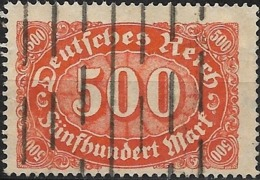 GERMANY 1922  Numeral - 500m - Orange On Buff FU - Gebraucht