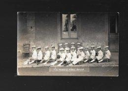 CARTE PHOTO DE L ECOLE MATERNELLE DE TOURNUS EN 1927 - Francia