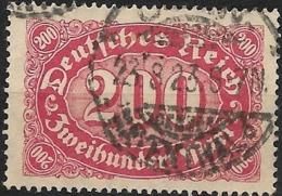 GERMANY 1922  Numeral - 200m - Red On Buff FU - Gebraucht