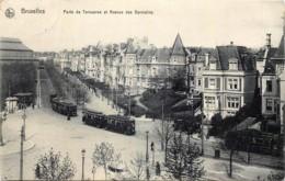 Belgique - Bruxelles - Les Trams Porte De Tervueren Et Avenue Des Germains - 3 Trams - Prachtstraßen, Boulevards