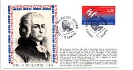 REVOLUTION FRANCAISE OBLITERATION GUILLOTIN à SAINTES - Révolution Française