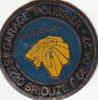 Briouze Garage Poussier  Peugeot - Reclameplaten