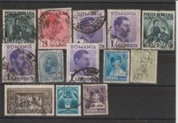 Roumanie Lot De Timbres Perforés - Variétés Et Curiosités