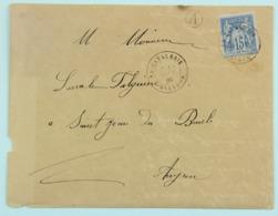 Lettre 1885 La Cavalerie Aveyro, Boite Rurale A --> St Jean De Bruel, Aff. 15c Sage - Marcophilie (Lettres)