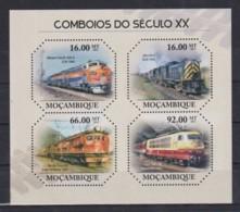 E678. Mozambique - MNH - 2011 - Transport - Trains - Trains