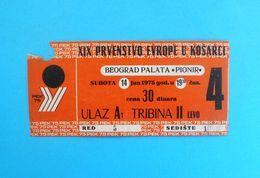 FIBA EURO BASKET 1975. ( European Basketball Championships ) - Official Ticket * Basket-ball Pallacanestro Baloncesto - Apparel, Souvenirs & Other