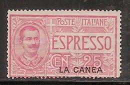 (Fb).Levante.La Canea.1906.Espresso.25c Rosa Nuovo Gomma Integra MNH (515-16) - 11. Foreign Offices