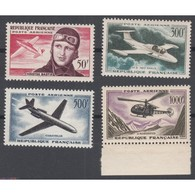 TIMBRES POSTE AERIENNE N°34 à 37 NEUFS** 1955-1959 Côte 118 Euros - Poste Aérienne