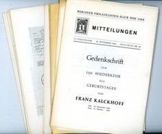 Berliner Philatelisten Klub Von 1888 - Nr. 32 Jahrgang 1960 - Zeitschriften