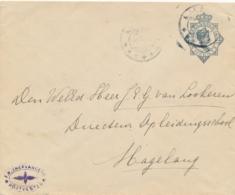 Nederlands Indië - 1916 - 10 Cent Wilhelmina, Envelop KB Malang Via Treinstempel KB SOERABAJA-BANDOENG B Naar Magelang - Indes Néerlandaises