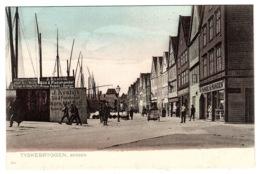 BERGEN - Tyskebryggen, Bergen - Colored Card - Ed. F. Beyer's Tourist Bureau, Bergen-Christiana - Norvegia